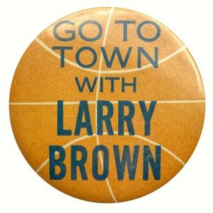 Vintage Accessories - Vintage Go To Town with Larry Brown Pin